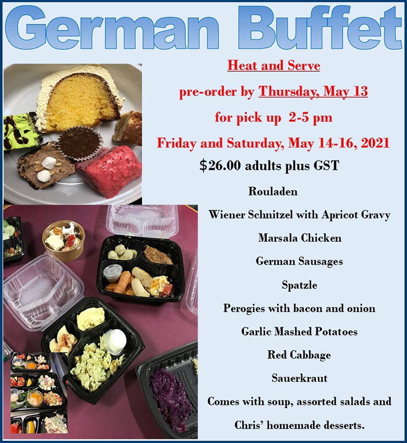 German Buffet New Price May13-14